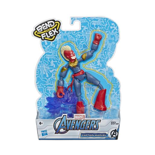 Os Vingadores - Figura Bend and Flex Captain Marvel 15 cm