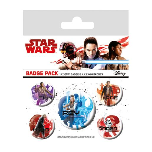 Star Wars - Pack 5 Chapas Star Wars Os Últimos Jedi