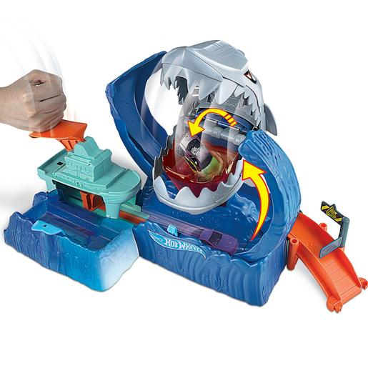 Hot Wheels - Pista de Coches Robo Shark