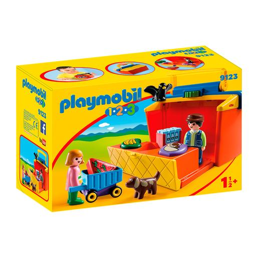 Playmobil 1.2.3 - Maleta Mercado - 9123
