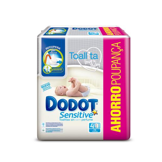 Dodot - Toalhitas Sensitive 4 Pack 216 Unidades