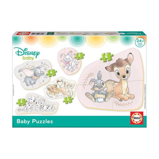 Educa Borrás - Animais da Disney - Pack 5 Baby Puzzles