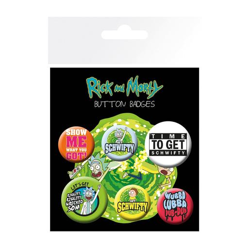 Rick e Morty - Pack 5 Chapas