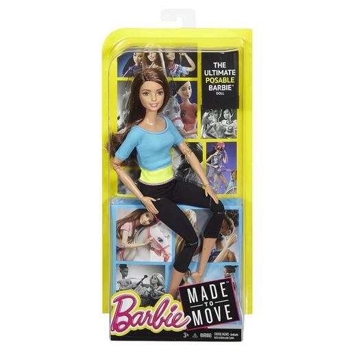 Barbie - Boneca Movimento - Top Azul e Verde