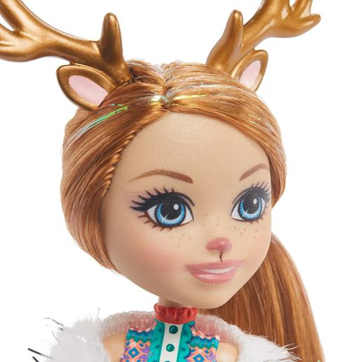 Enchantimals - Muñeca Rainey Reindeer con Mascotas