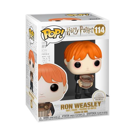 Harry Potter - Ron com Balde - Figura Funko POP
