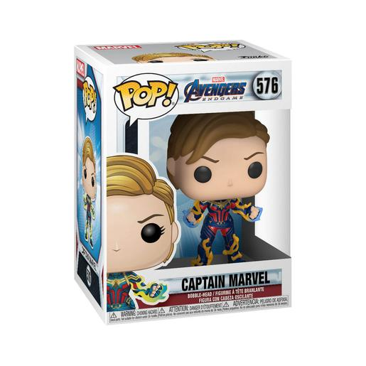 Os Vingadores - Captain Marvel Bobble-Head Endgame Cabelo Curto - Figura Funko POP