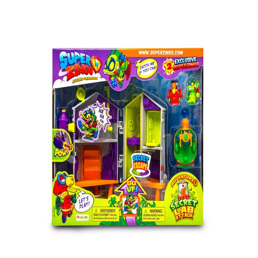 SuperZings - Playset Aventura 1 Ataque ao Laboratório Secreto SuperZings