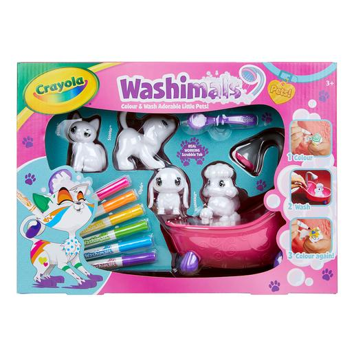 Washimals - Set Banheira e 4 Mascotes