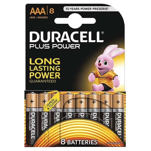 Duracell - Pack 8 Pilhas AAA Plus Power