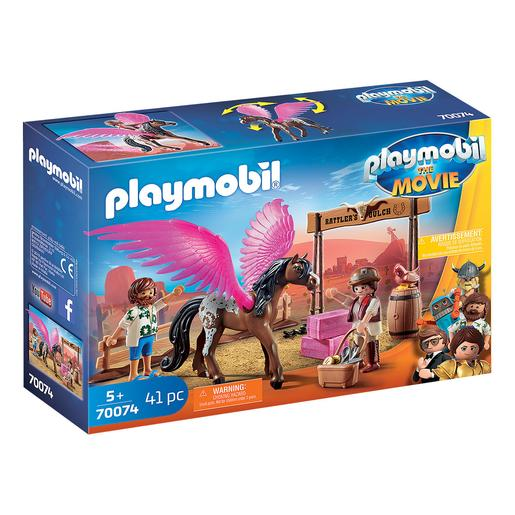 Playmobil - Marla, Del e Cavalo com Asas Playmobil The Movie - 70074
