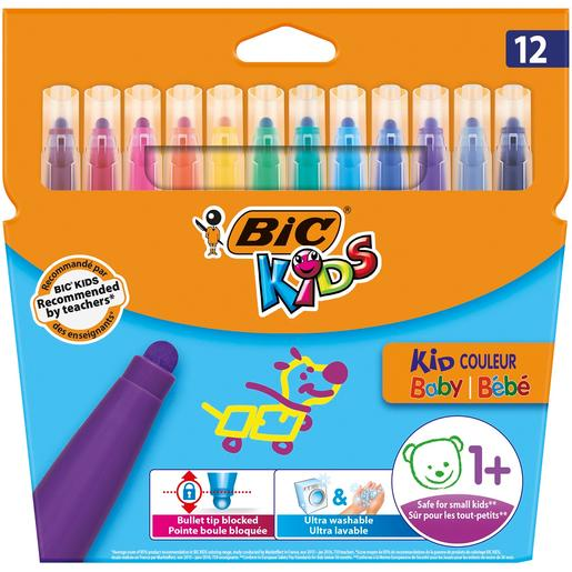 Bic - Pack 12 Rotuladores Infantiles