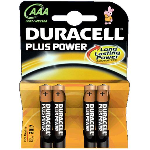 Duracell - Pack 4 Pilhas AAA Plus Power