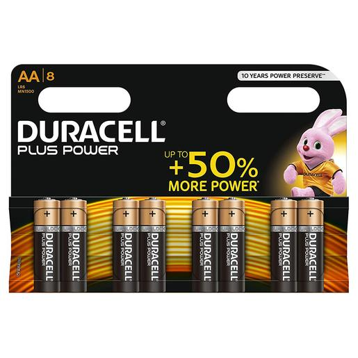 Duracell - Pack 8 Pilhas AA Plus Power