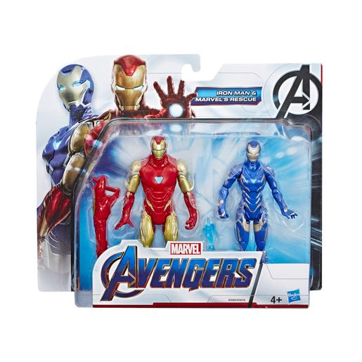 Os Vingadores - Iron Man e Marvel's Rescue - Pack 2 Figuras