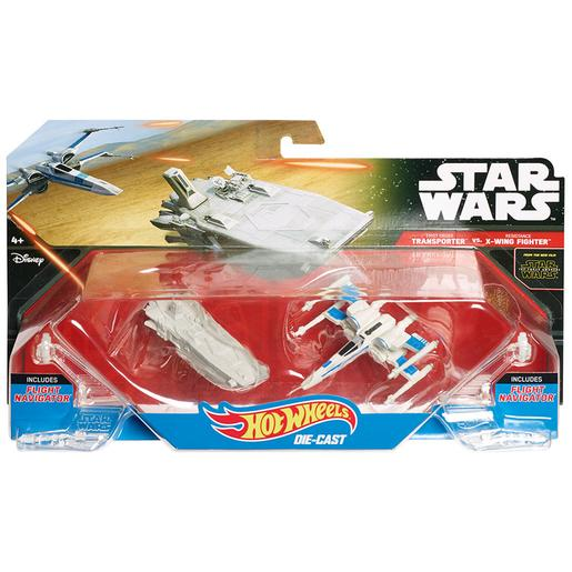 Hot Wheels - Star Wars - Transporter vs X-Wing Fighter - Pack 2 Naves