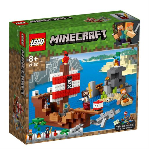 LEGO Minecraft - A Aventura do Barco Pirata - 21152