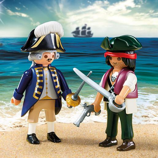 Playmobil - Piratas Duo Pack Pirata e Soldado - 6846