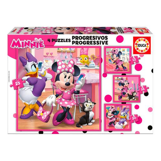 Educa Borras - Minnie Mouse - Puzzle Progressivo