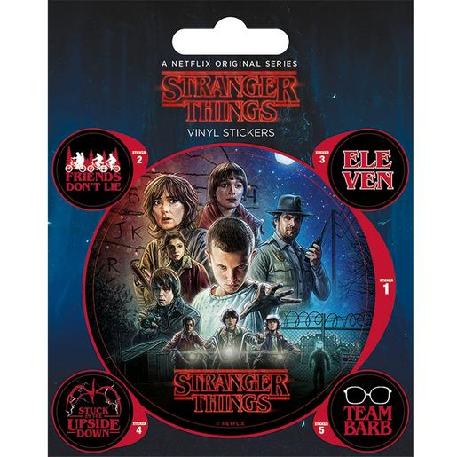 Stranger Things - Pack 5 Autocolantes