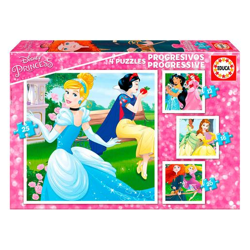 Educa Borras - Princesas Disney - Puzzle Progressivo