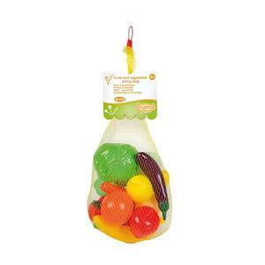 Qweenie Home - Saco de Frutas e Legumes de Brinquedo