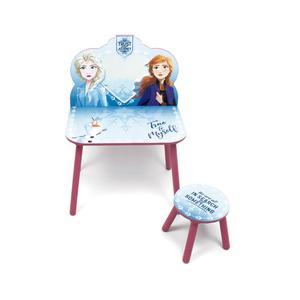 Frozen - Set de Penteadeira com Espelho e Tamborete em Madeira Frozen 2